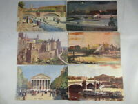 Lot of 6 Raphael Tuck postcards France