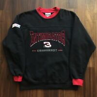 VTG 90s Dale Earnhardt NASCAR Sweatshirt Mens Medium Pullover Stitched Black OG