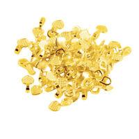 100pcs Shiny Gold Heart Glue-on Bail Flat Pad Tile Pendant Cabochon Crafts