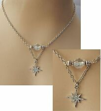 Silver North Star Pendant Necklace Jewelry Handmade NEW Chain Accessories
