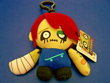 NWT Gund ZOMBIES Mini Plush Toy Halloween KEYCHAIN Blk Eyes, Stitches, Band-Aid