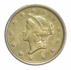 1853 $1 Liberty Head Gold - U.S. Gold Coin *417