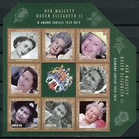 Gibraltar Royalty Stamps 2012 MNH Queen Elizabeth II Diamond Jubilee 6v M/S
