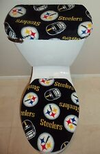 NFL PITTSBURGH STEELERS Fleece Fabric Toilet Seat Cover Set Bathroom Accessories