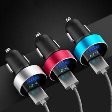 Dual Port 3.1A USB Zigarettenanzünder 12V 24V Digital LED Voltmeter new
