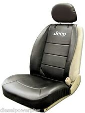 jeep suv 4x4 wagon truck car black sideless embroidered seat cover vinyl pocket