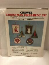 Crewel Angel Christmas Ornament Kit Saddle Valley Stitchery Contents Intact Open
