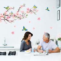 KQ_ FT- DI- Magpie Peach Blossom Pattern Wall Sticker Mural Decal Home Art Decor