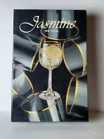 SAXONY JASMINE GERMAN FINE CRYSTAL GLASSWARE 380 ml GOBLET WINE GLASSES (6)