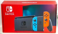 Nintendo Switch Console With Neon Red and Blue Joy Con New Sealed