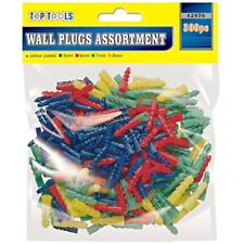 300 x Wall Plugs Assorted Raw Rawl Plugs Rawlplugs Set Screws 5mm 6mm 7mm 8mm