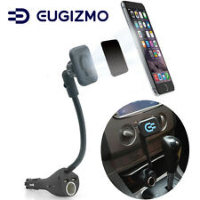 Eugizmo Car Magnetic Phone Holder with Dual USB Port Charger Cigarette Lighter
