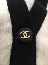 Chanel Rare cashmere White Black long cardigan sweater Vintage
