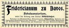 Hofrat Mühlhäuser Davos FRIDERICIANUM Historische Reklame von 1907