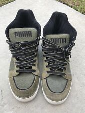 Men's Army Green Suede Puma High top shoes size 8
