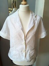 Wallis Broderie Anglaise White Jacket Top 16