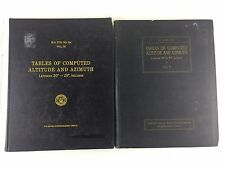 Lot of 2 Tables of computed Altitudes and Azimuth 1940 Vol 5 & 1967 Vol 3