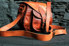 Women's Vintage Genuine Brown Leather Messenger Shoulder Cross Body Bag New