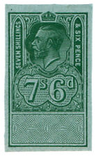 (I.B) George V Revenue : Unappropriated Die Proof 7/6d