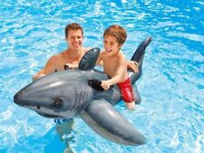Intex Great White Shark Ride-On 68x42  Sturdy Fun Party Inflatable Pool Ride