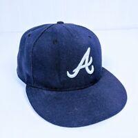New Era Atlanta Braves 59Fifty Fitted Hat (Dark Navy) MLB Cap Size 7 1/4