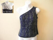 Clubbing Bohemian Heavily Embroidered Formal One Shoulder Blouse Top - M