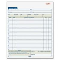 """Adams Purchase Order Book Carbonless 3-Part 8-3/8""""x10-11/16"""" WE TC8131"""