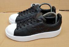 BNWT Adidas Superstar Scarpe da ginnastica in grassetto Nero & Bianco Taglia 6 UK RARO lo stile mozzafiato