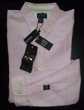 Buffalo David Bitton Shirt Button-Front Regular Fit XL Pink White Stripe c1204