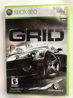 GRID FREE SHIPPING (Microsoft Xbox 360, 2007) COMPLETE!