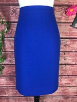 J Crew Skirt size 6 Royal Blue Wool No. 2 Pencil Straight Knee Classic Career