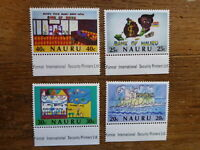 NAURU 1986 10th ANNIV BANK OF NAURU SET 4 MINT STAMPS