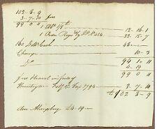 Early American Manuscript Document, Huntington, Connecticut, March 14, 1794