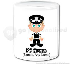 Personalised Gift Police Money Box Cop PC Policeman Officer Hero Present #11
