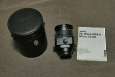 Objetivo Nikon PC Micro-Nikkor 85mm f2.8D  Tilt-Shift Descentrable Macro + CL-76
