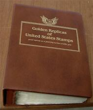 Nice Collection of 62 Gold Replica Collectible Stamps, 22 Karat Gold, 1993, 1994