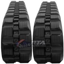 Two Rubber Tracks For Takeuchi Tl12 Tl150 Tl250 450x100x50 Block Tread