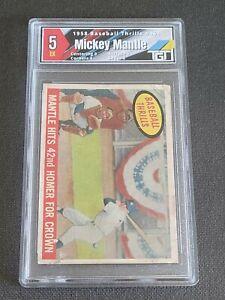 1959 Topps #461 Mickey Mantle BT/42nd Homer TGT 5 EX