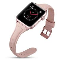 PASBUY 31B T Style Genuine Leather Strap Band for Apple Watch Series 4 40mm Pink
