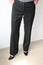 TED BAKER LADIES SMART BLACK WOOL MIX TROUSERS OFFICE / WORK SIZE 2