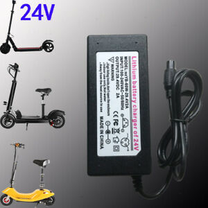 FC CE 29.4V 2A for 24V Li-ion Batteries 9mm Aviation head Electric Board Charger
