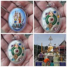rare holy elemental 2 head naga eye. thai amulet mystical fetish buddha pendant
