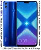 "Huawei Honor 8X 6.5"" Full Screen Kirin 710 2.2GHz Dual AI Cameras 20MP"