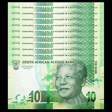 LOT 10 PCS, South Africa 10 Rand, 2018, P- NEW, NEW SIGNATURE, 100th COMM. UNC