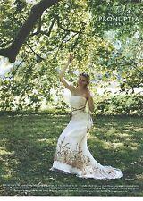 """PUBLICITE ADVERTISING  2006  PRONUPTIA robe de mariée """"sur la balaçoire"""""""