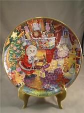 "Bill Bell Plate Holiday Christmas Cats ""Not A Creature Was Purring"""