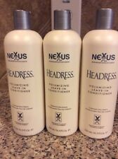 3 Nexxus Salon Hair Care Headress Leave-In Conditioner 3x16.9 oz Each original!