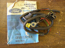 NOS OEM Ford 1968 1969 Lincoln Town Car Headlight Wiring Harness