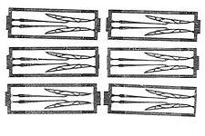 ** PA535 - Lot de 6 paires d'essuie glaces photodecoupe 15/100 en mailleshort