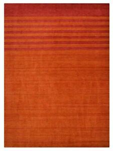 Hand Knotted Wool 5'x8' Area Rug Contemporary Rust Red BBH Homes BBL00909